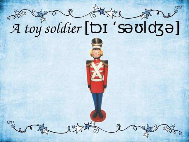 A toy soldier [tɔɪ 'səʊldʒə]