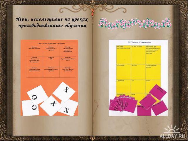 Игры, используемые на уроках производственного обучения