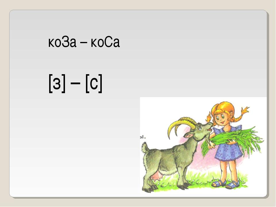 коЗа – коСа [з] – [с]