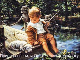 Природа воспитывает в человеке доброту