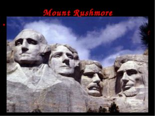In South Dakota, USA, there is an interesting place to visit. It's a granite