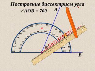 А В О Б и с с е к т р и с а Построение биссектрисы угла 13.07.2012 www.konsp