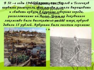 В 50 –е годы 19 века крестьяне Горлов и Толочков первыми расширили свои посе