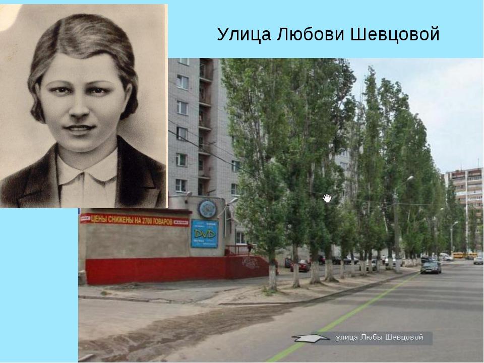 Улица Любы Шевцовой Улица Любови Шевцовой