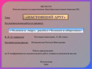 МО РБ УО Новополоцкая государственная общеобразовательная гимназия №2   Те
