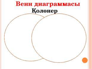 Венн диаграммасы Қолөнер