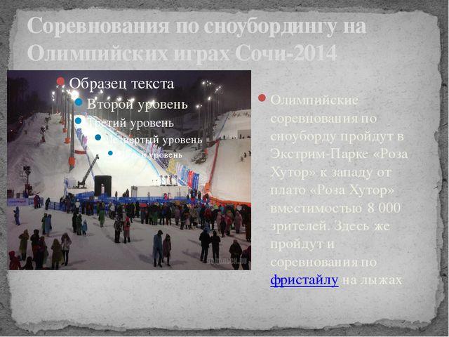 Соревнования по сноубордингу на Олимпийских играх Сочи-2014 Олимпийские сорев...