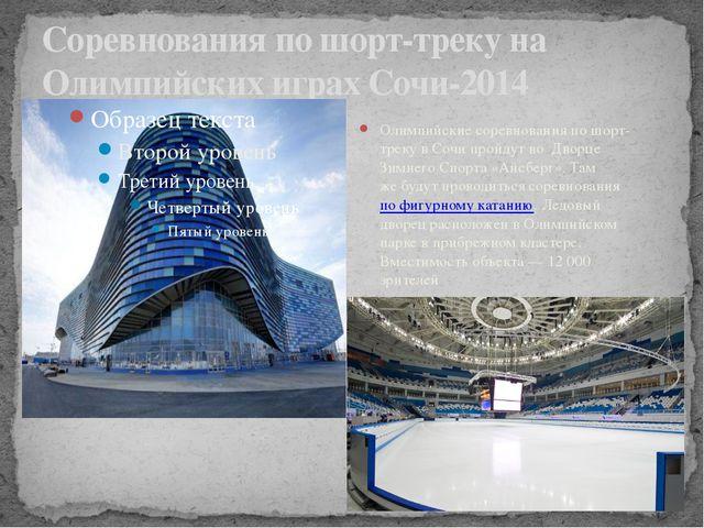 Соревнования по шорт-треку на Олимпийских играх Сочи-2014 Олимпийские соревно...