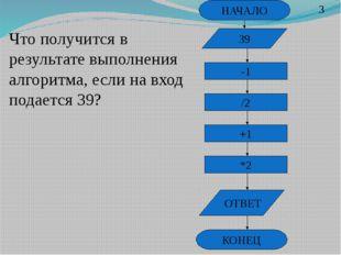 НАЧАЛО -1 /2 +1 *2 ОТВЕТ КОНЕЦ Что получится в результате выполнения алгоритм