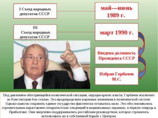 I Съезд народных депутатов СССР май—июнь 1989 г. Под давлением обостряющейся