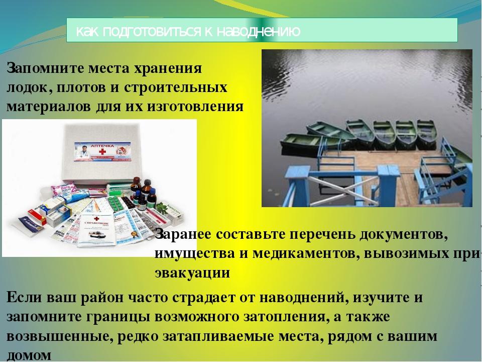 как подготовиться к наводнению Если ваш район часто страдает от наводнений,...