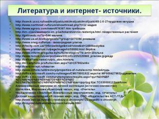 Литература и интернет- источники. http://somik.ucoz.ru/load/molljuskiulitki/m
