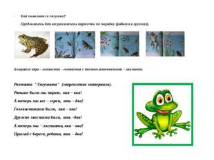 Как появляется лягушка? Предложить детям разложить карточки по порядку (рабо