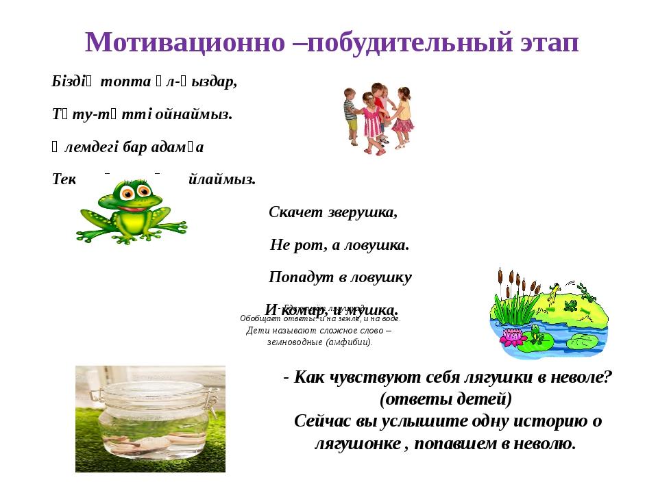 - Где живёт лягушка? Обобщает ответы: и на земле, и на воде. Дети называют с...