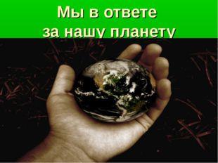 Мы в ответе за нашу планету