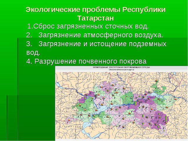 Экологические проблемы Республики Татарстан 1.Сброс загрязненных сточных вод....