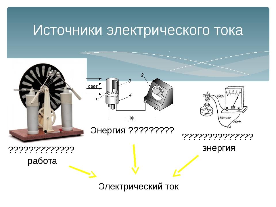 Источники электрического тока ????????????? работа Энергия ????????? ????????...