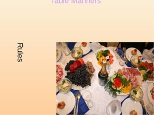 Rules Table Manners