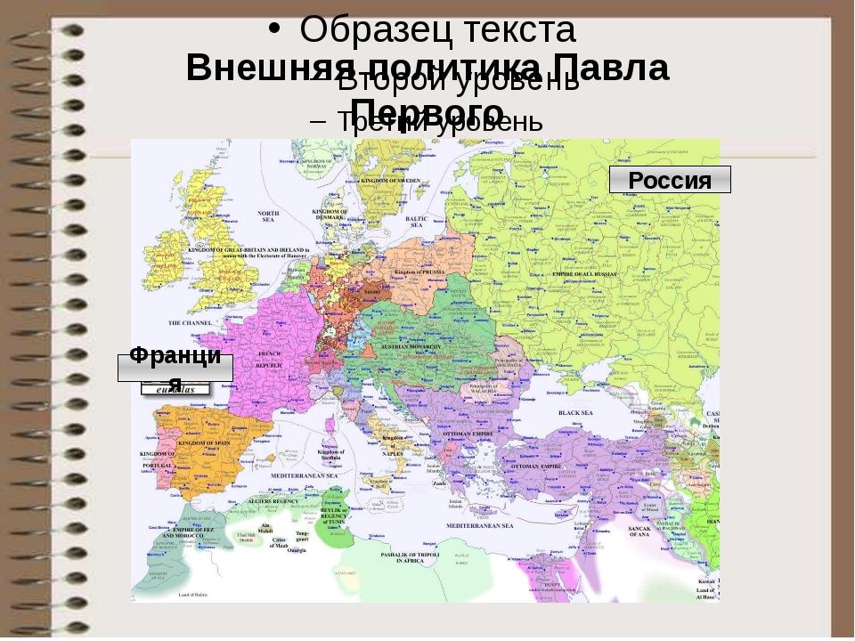 Внешняя политика Павла Первого Россия Франция