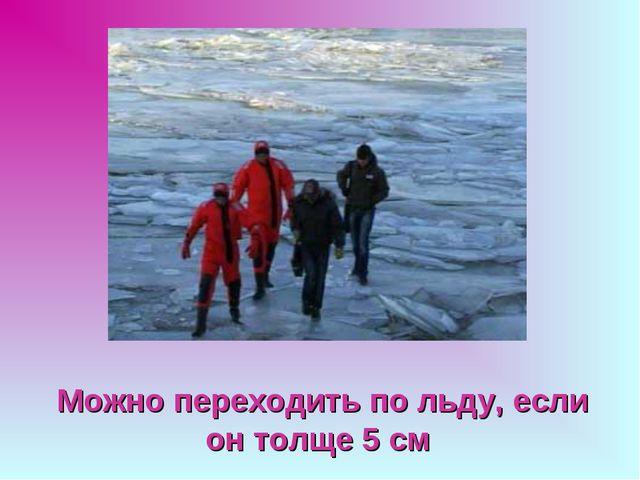 Можно переходить по льду, если он толще 5 см