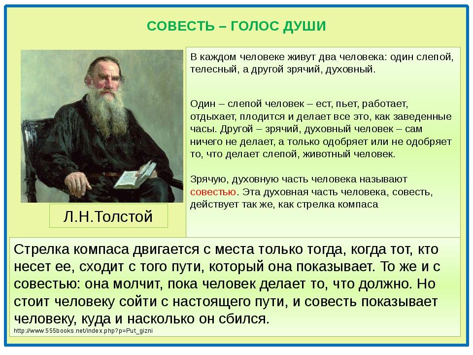 СОВЕСТЬ – ГОЛОС ДУШИ В каждом человеке живут два человека: один слепой, теле...