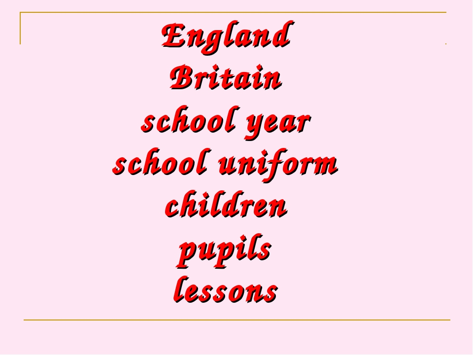 England Britain school year school uniform children pupils lessons