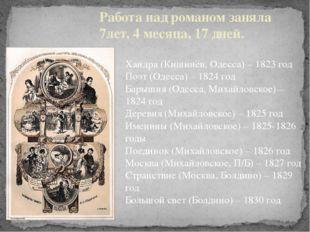 Работа над романом заняла 7лет, 4 месяца, 17 дней. Хандра (Кишинёв, Одесса) –