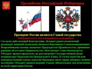 Президент Российской Федерации Президент России является Главой государства.