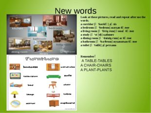 New words Look at these pictures, read and repeat after me the words. a corri
