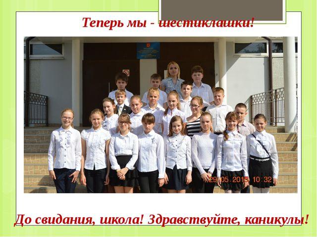 Теперь мы - шестиклашки! До свидания, школа! Здравствуйте, каникулы!