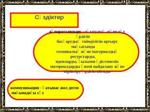 Сөздіктер   ақпараттандыру - оқытудың және оқу үрдісін басқарудың тиімді