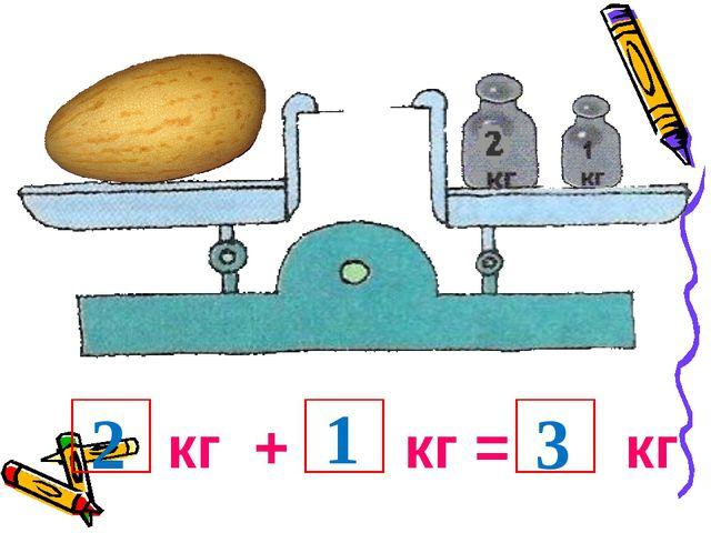 кг + кг = кг 2 1 3