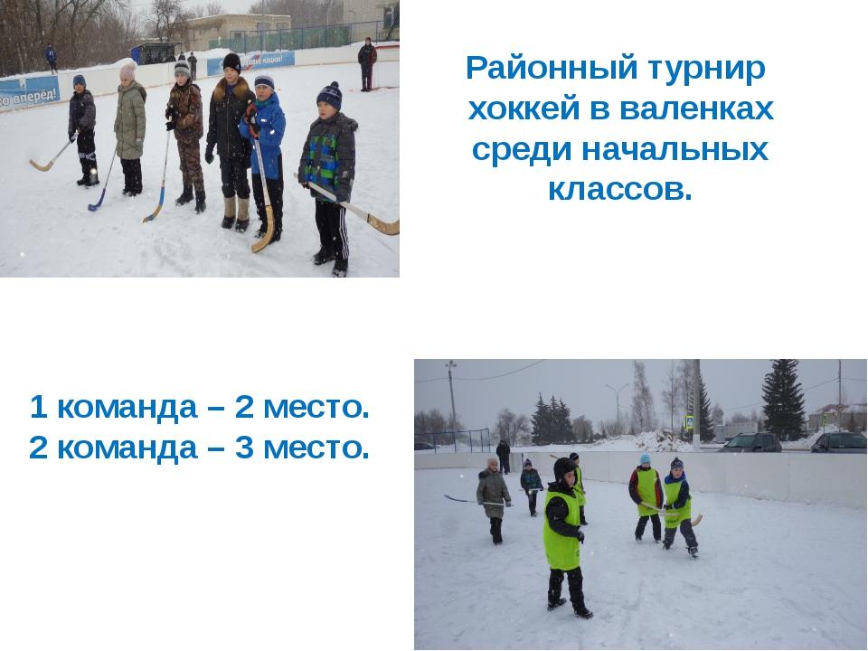 Районный турнир хоккей в валенках среди начальных классов. 1 команда – 2 мест...