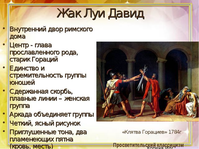 Жак Луи Давид Внутренний двор римского дома Центр - глава прославленного рода...