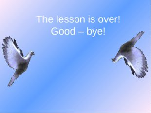 The lesson is over! Good – bye!