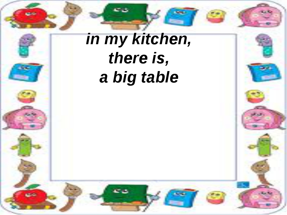 in my kitchen, there is, a big table