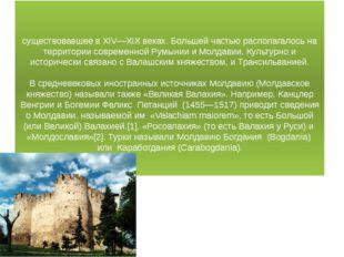 Молда́вское кня́жество (Молдавия, Молдова,) — государство, существовавшее в X