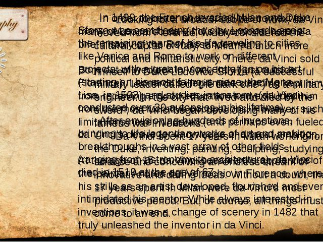 The way Leonardo da Vinci saw it, the problem with the canons of the time wa...