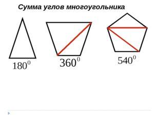 Сумма углов многоугольника