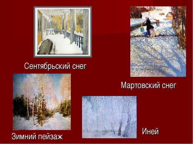 Иней Зимний пейзаж Сентябрьский снег Мартовский снег