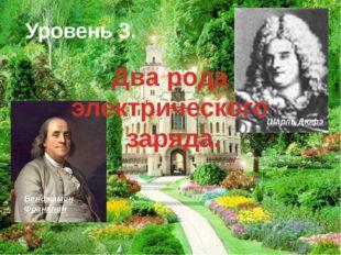 Уровень 3. Шарль Дюфэ Бенджамин Франклин Два рода электрического заряда.