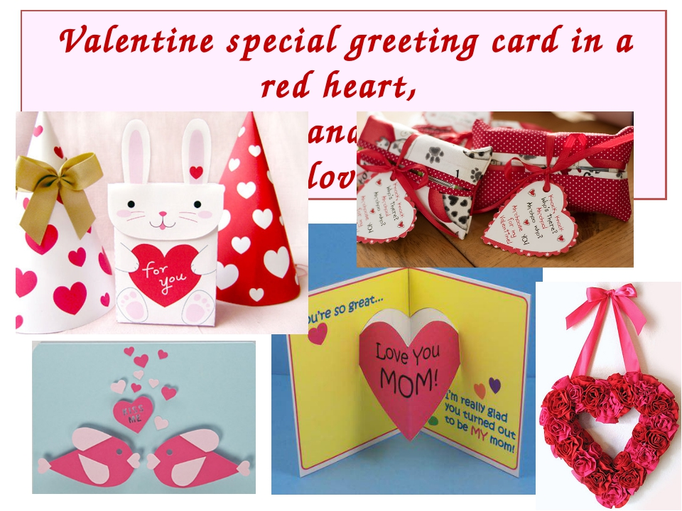 Valentine special greeting card in a red heart, I write poems and declaration...