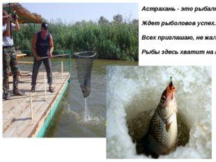 Астрахань - это рыбалка. Ждет рыболовов успех. Всех приглашаю, не жалко, Рыбы