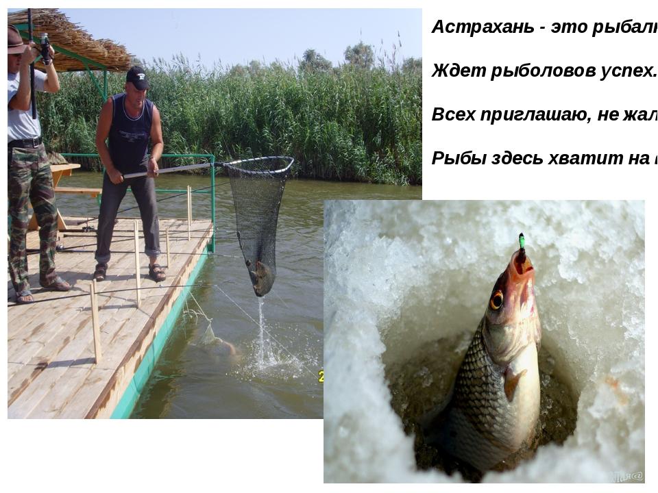 Астрахань - это рыбалка. Ждет рыболовов успех. Всех приглашаю, не жалко, Рыбы...