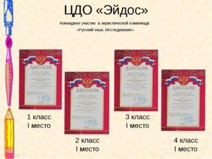 ЦДО «Эйдос» Командное участие в эвристической олимпиаде «Русский язык. Исслед