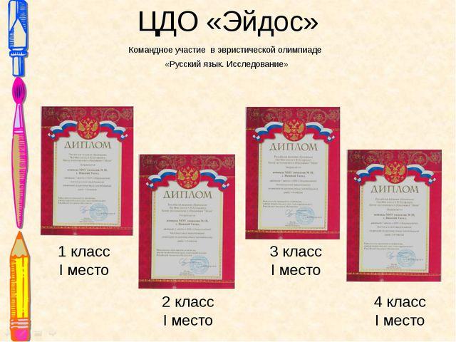 ЦДО «Эйдос» Командное участие в эвристической олимпиаде «Русский язык. Исслед...