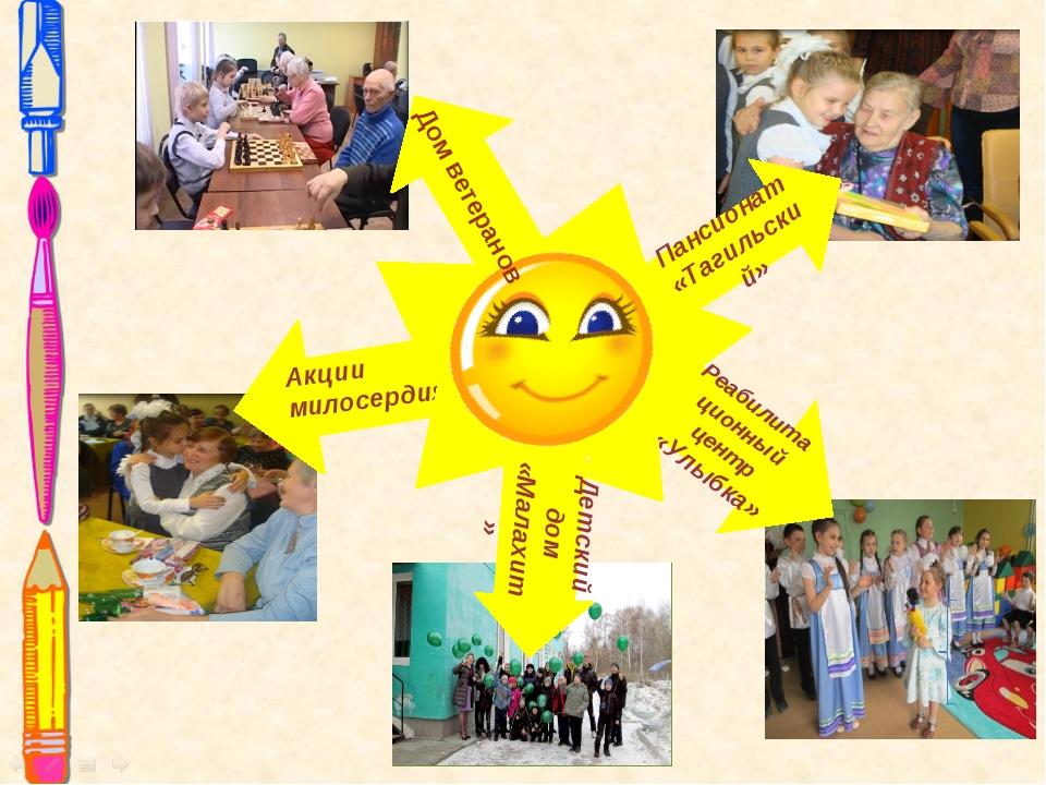 Детский дом «Малахит» Пансионат «Тагильский» Реабилитационный центр «Улыбка»...