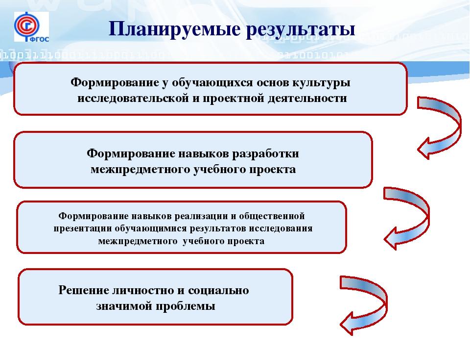 Планируемые результаты Формирование у обучающихся основ культуры исследовател...