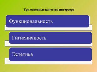 Три основные качества интерьера