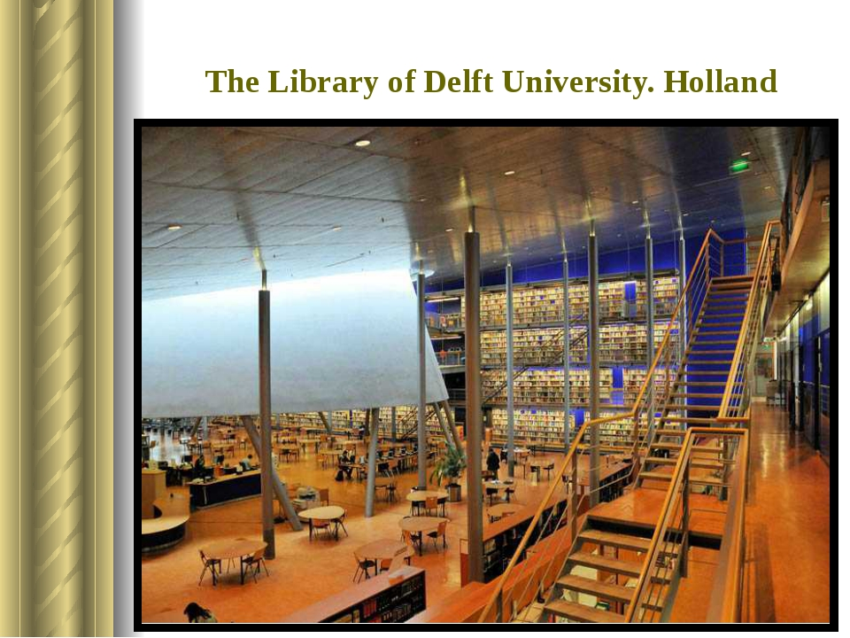 The Library of Delft University. Holland It was built in 1997. It is situate...